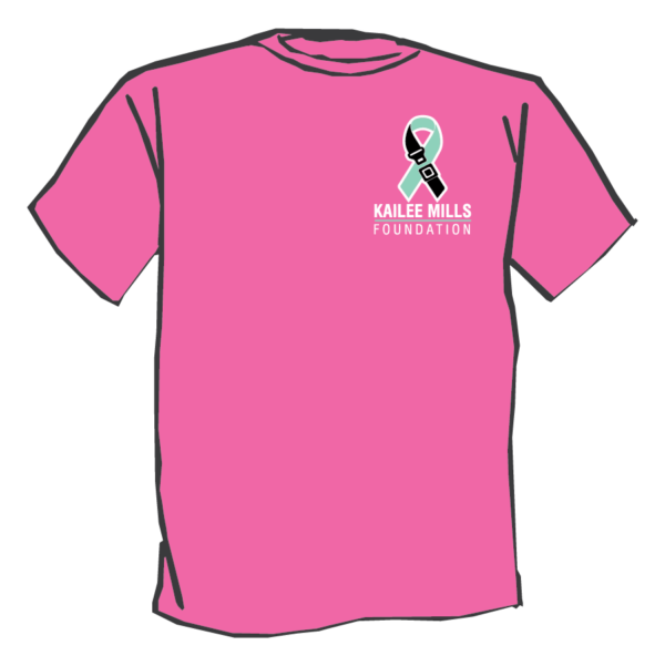 Kailee Mills foundation pink t-shirt