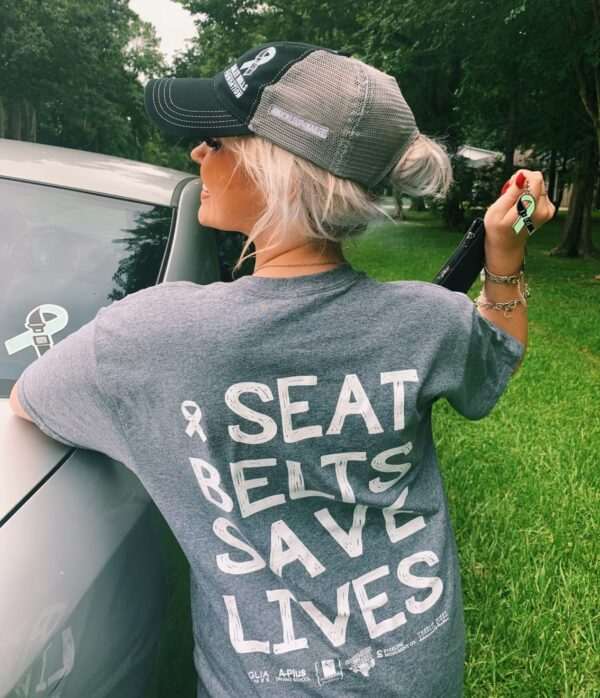 Seat belts save lives shirt kailee mills